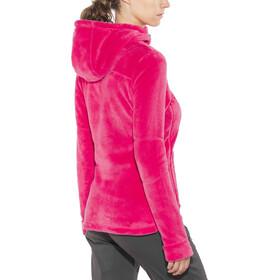 Meru Nunavut Hooded Teddy Fleece Jacket Dam virtual pink